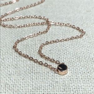 Tiny Dainty Rose Gold Circle Dot Chain Necklace